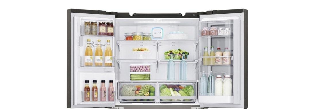 اتصال به وای-فای و اپلیکیشن Smart ThinQ™ برای مدیریت بهتر یخچال فریزر